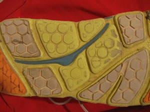 Middle sole zone