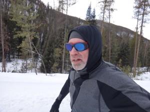 running along trail uphill