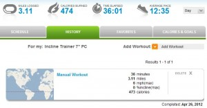 ifit stat for my 5k run this morning