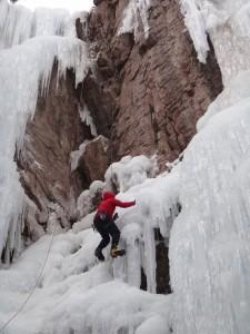 ice climbing in Ouray Colorado