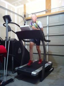 Running on Incline Treadmill