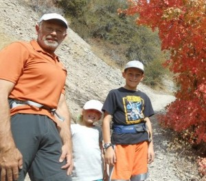 training logs show hikes with the kids