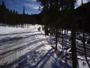 Winter Trail Running behind Keystone Resort