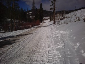 One of my favorite trail running roads at Keystone Resort