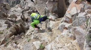 Todd Gilles rock climbing on Kelso Ridge