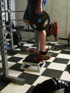 Weighted Single Leg High Rep Calf Raises
