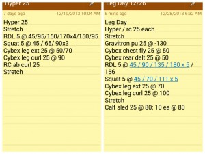 Leg Day Training - two side by side workouts