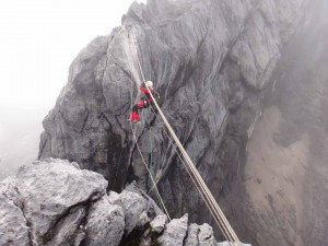 Conquer Fear: the Tyrolean Traverse over 2000 foot drop on Carstensz Pyramid