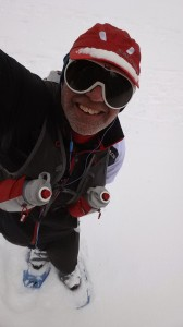 Snowshoe Hiking Selfie - note the really cool shades
