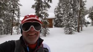 Snowshoe hiking behind Labonte's Cabin and Santiago Express at Keystone Resort