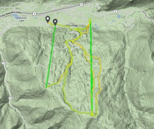 GPS Map of my Skiing Cross Training route