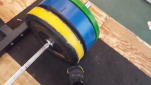 Bar Loaded for Deadlift sets of 1 at 244 lb