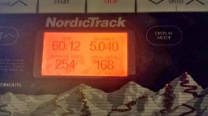 Treadmill Display after my Anaerobic Threshold Training session