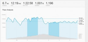 Strava: Pace Analysis for fast 10k in trail running microspikes 21 Feb 2014