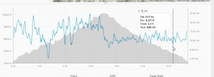 Strava: Pace and Elevation for fast 10k in trail running microspikes 21 Feb 2014