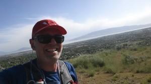 Bonneville Shoreline Trail overlooking Utah Lake. Local say BST.