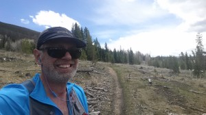 Singletrack trail near The Ranches overlooking the River Run Golf Course at Keystone Resort