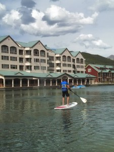 Stand Up Paddle Board on Keystone Lake at 9,300' in Colorado
