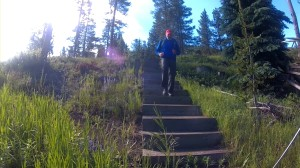 Stair Climbing for Mountaineering Fitness early morning training session