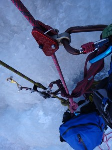Ice Climbing Training is sometimes a do-it-yourself task
