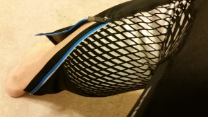 Reflective fish scales on the Gore Windstopper tights by Under Armour