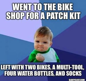 Went to the bike shop for a patch kit...